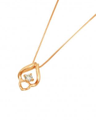 K18PG  天然ダイヤモンド 0.05ct ドロップ デザインネックレス見る
