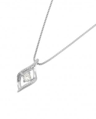 K18WG  天然ダイヤモンド 0.04ct ミルストリーム ネックレス見る