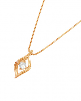 K18PG  天然ダイヤモンド 0.04ct ミルストリーム ネックレス見る