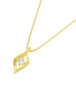 K18YG  天然ダイヤモンド 0.04ct ミルストリーム ネックレス見る