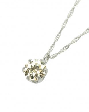 K18WG  天然ダイヤモンド 0.3ct SIクラス スクリューチェーン ネックレス見る