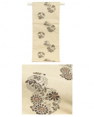 ブラウン系 かすれ&花柄 紬織プレタ2点セット見る