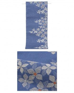 ネイビー系 花&茎 紬織プレタ2点セット見る