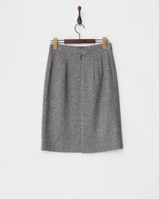 ブラック  ラメツイードタイトスカート見る