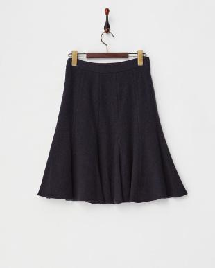 ネイビー  10枚接ぎフレアスカート見る