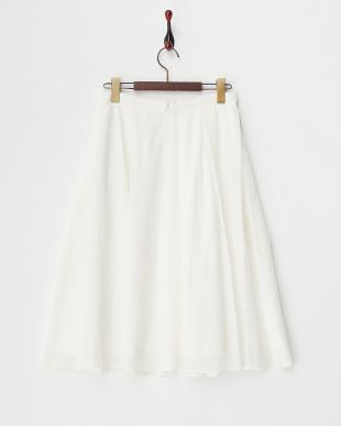 ホワイト ローンストレッチスカート見る