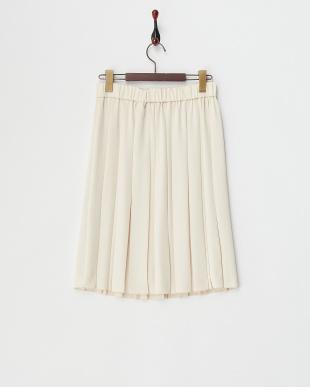 ライトベージュ  シルックハンマーサテンリバーシブルスカート見る