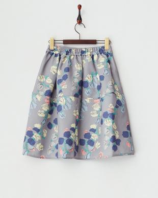 グレー  チューリップ切り替えスカート見る