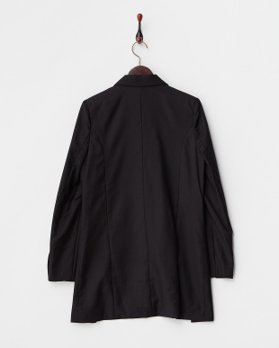 ブラック サイドスリットロングジャケット見る
