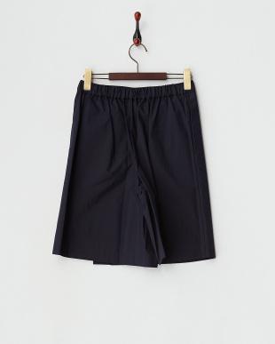 ネイビー  ラップスカート風ショートパンツ見る