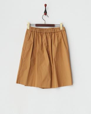 キャメル  ラップスカート風ショートパンツ見る
