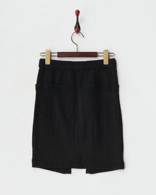 BLACK  ZIPリブニットスカート見る