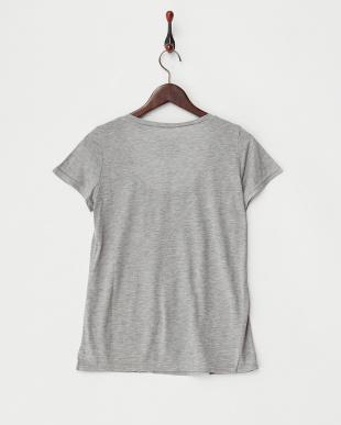 グレー  テンセルTシャツ見る