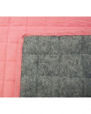 ピンク  デニム風ラグ 185×185cm見る