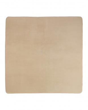 ベージュ  ロッソ フランネルラグ 200×250cm見る