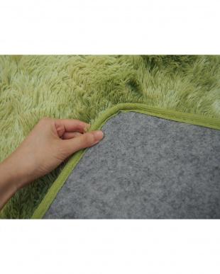グリーン  ルース PV マイヤーラグ 200×250cm見る