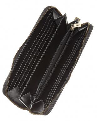 ブラック  PALLANZA-L ラウンドファスナー長財布見る