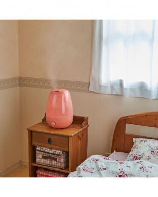 サニーピンク  siroca LED加湿器見る
