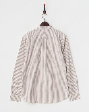 WINE STRIPE  ストライプベーシックシャツ FORK&SPOON見る