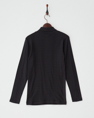 BLACK  PANEL RIBBED TURTLE NECK L/SL見る