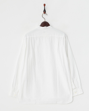 WHITE  バンドカラー プルオーバーシャツ UR見る