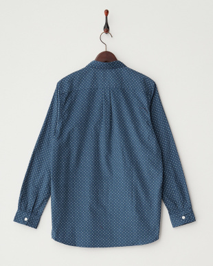 BLU/WHT  コーデュロイドットPT2ポケシャツ WH見る