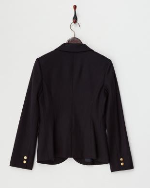 ネイビー  金釦ウールジャケット見る