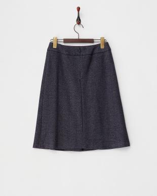 ネイビー  ヘリンボーンスカート見る