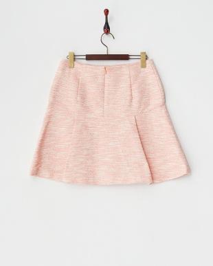 ピンク  ファンシーカラーツイードスカート見る