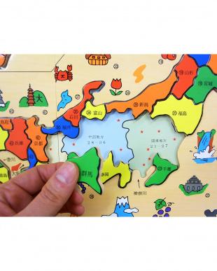 木箱日本地図パズル見る