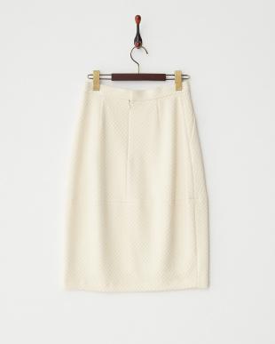 ベージュ  ダイヤジャカードコクーンスカート見る