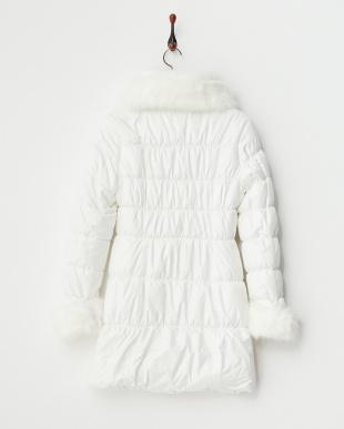 WHITE  ファー付中綿コート見る