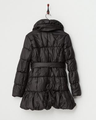 BLACK  ショールカラー中綿コート見る