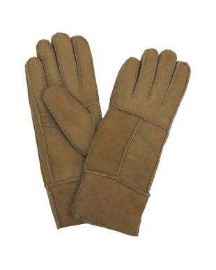グレー  ムートン 手袋見る
