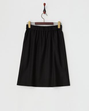 ブラック  微起毛ジャージーテイストスカート見る