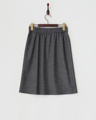 グレー  微起毛ジャージーテイストスカート見る