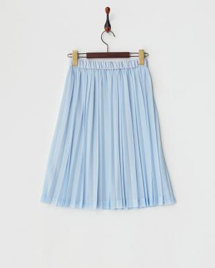 ブルー  エスパンディプリーツスカート見る
