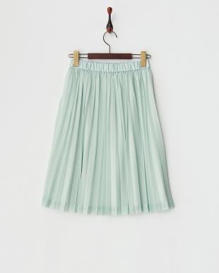 グリーン  エスパンディプリーツスカート見る