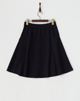 ネイビー  CASUAL IIニットスカート見る