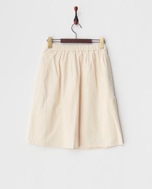 オフホワイト  コール天ギャザースカート見る