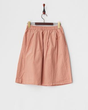 ピンク  コール天ギャザースカート見る