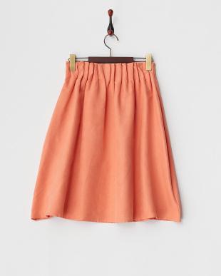 ピンク  フェイクスエードウエストギャザースカート見る