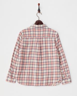 ピンク系  ネルチェックシャツ A見る