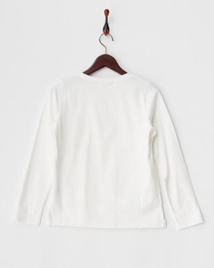 オフホワイト  チェックフロッキーロゴプリントTシャツ見る