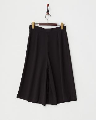 ブラック  プリーツスカート風パンツ見る