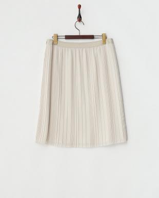 ベージュ  イレギュラープリーツスカート見る