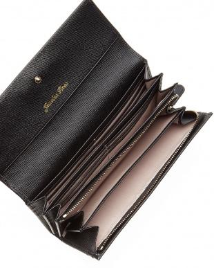 ブラック  パレットウォレット 型押し長財布見る