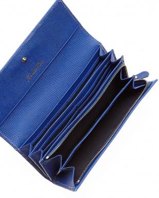 ロイヤルブルー  パレットウォレット 型押し長財布見る