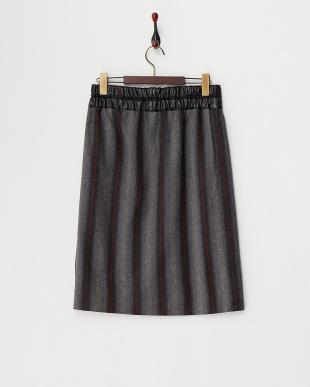 グレー  グラデーションストライプ スカート見る