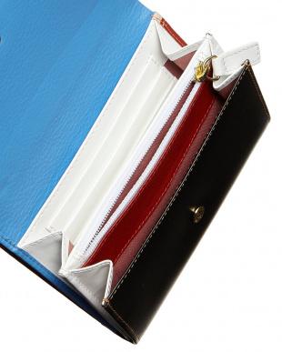 ブルー  JONATHAN SAUNDERS バイカラー財布見る